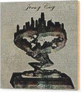 Jersey City Skyline Wood Print