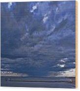 Jersey Downpour Wood Print