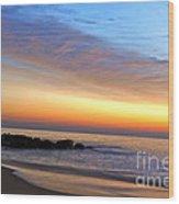 Jersey Shore Sunrise Wood Print