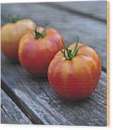 Jersey Tomatoes  Wood Print