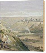 Jerusalem April 5th 1839 Wood Print by David Roberts
