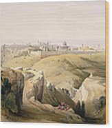 Jerusalem From The Mount Of Olives Wood Print by David Roberts