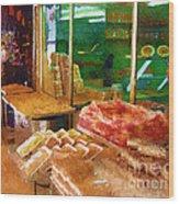 Jerusalem Marketplace Wood Print
