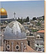 Jerusalem Old City Domes Wood Print