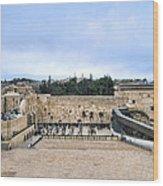Jerusalem The Western Wall Wood Print