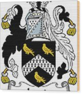 Jervis Coat Of Arms Irish Wood Print