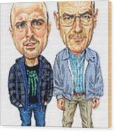 Jesse Pinkman And Walter White Wood Print