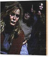 Jessica Lange as Sister Jude @ TV serie American Horror Story Asylum Wood Print