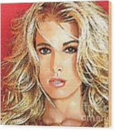 Jessica Simpson Wood Print by GCannon