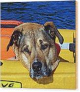 Jessie Kayaking Wood Print