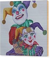Jesters On Bourbon Street  Wood Print