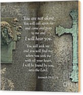 Jesus And Cross - Inspirational - Bible Scripture Wood Print by Kathy Fornal