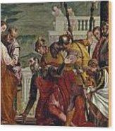 Jesus And The Centurion Wood Print
