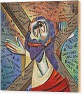 Jesus Wood Print by Anthony Falbo