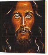 Brilliant Jesus Christ Portrait Wood Print