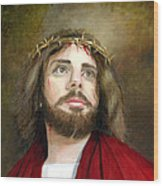 Jesus Christ Crown Of Thorns Wood Print