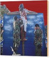 Jesus Christ Float 60th Anniversary Of The Landing On Iwo Jima In Ww2 Sacaton Arizona 2005 Wood Print