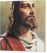 Jesus Christ Wood Print by Munir Alawi