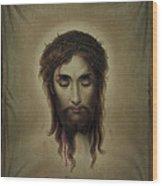Jesus Christus Portrait By Martie Circa 1876 Wood Print