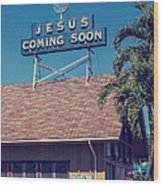 Jesus Coming Soon Church Maui Hawai Wood Print