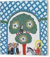 Jesus Enters The Gate Of Jerusalem Wood Print