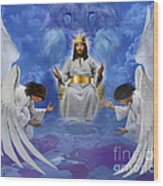 Jesus Enthroned Wood Print by Tamer and Cindy Elsharouni