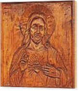 Jesus From A Door Panel At Santuario De Chimayo Wood Print