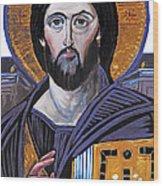 Jesus Icon Wood Print