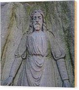 Jesus In Repose Wood Print