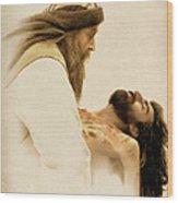Jesus Laid To Rest Wood Print