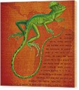 Jesus Lizard Wood Print