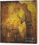 Jesus Meets His Mother Via Dolorosa 4  Wood Print by Lianne Schneider