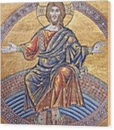 Jesus Mosaics Wood Print