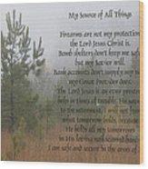 Jesus My Source Of All Things Wood Print