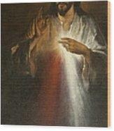 Jesus Of Divine Mercy Wood Print