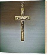 Jesus On The Cross 1 Wood Print by Paul Ward