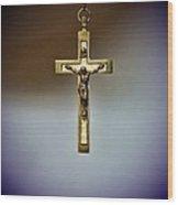 Jesus On The Cross 2 Wood Print by Paul Ward