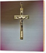 Jesus On The Cross 3 Wood Print