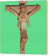 Jesus On The Cross In Mexico 1925 Wood Print