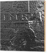 Jesus On The Cross Metal Sculpture Wood Print