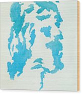 Jesus Profile Wood Print