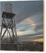 Jesus Saves Watertower - Route 66 Wood Print