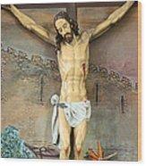 Jesus Statue At Latin Church In Taybeh Wood Print