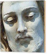 Jesus Statue Wood Print by David G Paul