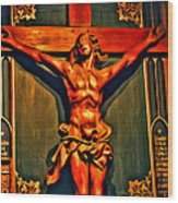 Jesus Statue Of Notre Dame Wood Print