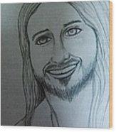 Jesus Sweet Smile Wood Print