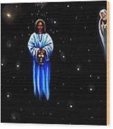 Jesus - The Guiding Light Wood Print