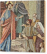 Jesus Visit Wood Print