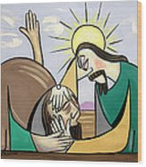 Jesus Will Meet You Where You Are Wood Print