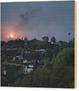 Jesusita Wildfire Burn In The Distance Wood Print
